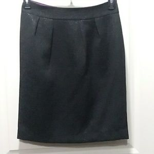 Banana Republic Black Pebcil Skirt Sz 4